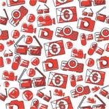 Celebrities universal movie  icons line pattern. Big set Royalty Free Stock Photos
