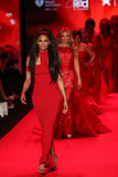 Celebrities walk the runway at the Go Red For Women Red Dress Collection 2015 Royalty Free Stock Photography