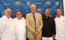 Celebrity chefs David Burke, Tony Mantuano , Masah Royalty Free Stock Photo