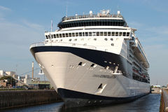 CELEBRITY CONSTELLATION in the sluice of IJmuiden. CELEBRITY CONSTELLATION is a Millennium-class cruise ship of Celebrity Cruises stock photos