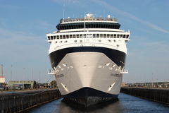 CELEBRITY CONSTELLATION in the sluice of IJmuiden. CELEBRITY CONSTELLATION is a Millennium-class cruise ship of Celebrity Cruises stock image