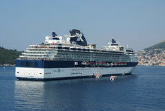 Celebrity cruise ship in Croatia Stock Photo