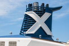 Celebrity Cruises. Cruise ship funnel, Celebrity Silhouette stock photography