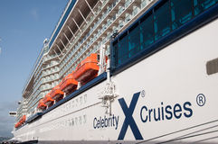 Celebrity X Cruises ship. Celebrity Eclipse cruise ship for Celebrity Cruises Royalty Free Stock Photos