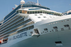 Celebrity Cruises. Celebrity Silhouette cruise ship brige stock photography