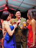 Celebrity Dick Lee interacting with guests at Audi Fashion Festival 2011 Stock Photography
