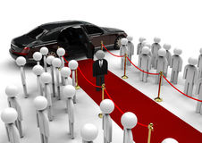 Celebrity dummy on red carpet Royalty Free Stock Photos