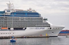 Celebrity Eclipse cruise ship Stock Images