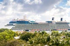Celebrity Equinox Cruise Ship Headed to Sea Stock Photos