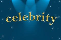celebrity golden sign word Στοκ εικόνες με δικαίωμα ελεύθερης χρήσης