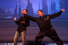 Celebrity Guests James Arnold Taylor and Ray Park  Royalty Free Stock Images