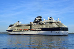 Celebrity infinity cruise ship sailing from cobh Royalty Free Stock Images