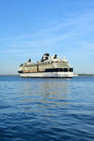 Celebrity infinity cruise ship sailing out to sea Stock Image