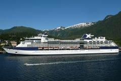 Celebrity Infinity. Docked in Ketchikan, Alaska, Celebrity Cruises royalty free stock image
