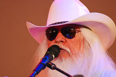 Celebrity Leon Russell with Flowing White Hair Stock Photography