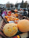 Celebrity Pumpkins in Sveksna, Lithuania Royalty Free Stock Photography