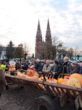 Celebrity Pumpkins in Sveksna, Lithuania Royalty Free Stock Images