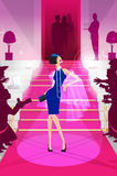 Celebrity on the red carpet illustration royalty free stock image