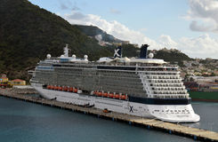 Celebrity Reflection arrived in St Maarten Stock Photography