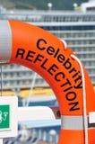 Celebrity Reflection life bouy. Life bouy for cruise ship Celebrity Reflection Royalty Free Stock Photo