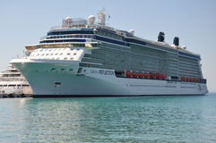 Celebrity Reflection. Modern cruise liner royalty free stock images