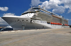 Celebrity Reflection. Modern cruise liner royalty free stock photos