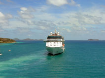 Celebrity Solstice cruise ship. In coming into Tortola harbour Stock Images