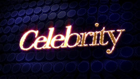 Celebrity Sparkle Glitz Text Royalty Free Stock Images
