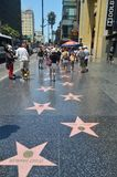 Celebrity Stars On Walk Of Fame In Hollywood Boluvedard. royalty free stock photo