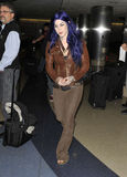 Celebrity tattooist Kat Von D at LAX Royalty Free Stock Image