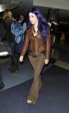 Celebrity tattooist Kat Von D at LAX Stock Photo