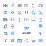 Celebrity Icon Set stock photography