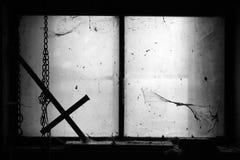 Celeiro assustador desde 1600 s Fotografia de Stock Royalty Free