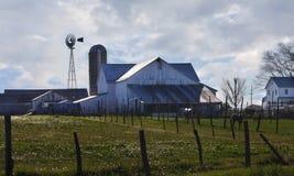 Celeiro de Amish fotografia de stock