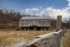 Celeiro de madeira Fotografia de Stock
