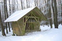 Celeiro de madeira Fotos de Stock