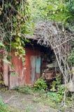 Celeiro de madeira velho fotografia de stock royalty free