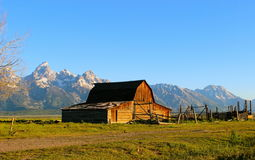 Celeiro de Moulton no Tetons grande Imagens de Stock Royalty Free