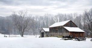 Celeiro do inverno Imagem de Stock