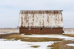 Celeiro do vintage em Illinois rural foto de stock