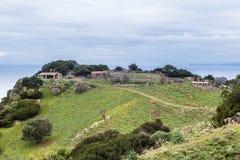 Celeiro dos carneiros em Sardinia, Itália fotos de stock royalty free