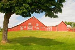 Celeiro e pátio de Vermont fotos de stock royalty free