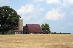 Celeiro e silo velhos Fotografia de Stock Royalty Free