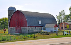 Celeiro perto de Madison, Wisconsin Foto de Stock Royalty Free