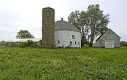 Celeiro redondo branco, ponto da coroa, Indiana Fotos de Stock Royalty Free