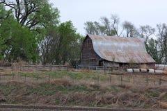 Celeiro rural da exploração agrícola imagem de stock royalty free