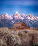 Celeiro Teton grande de Moulton, Wyoming foto de stock