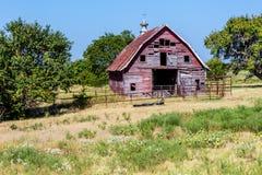 Celeiro velho de Abandonded em Oklahoma foto de stock royalty free