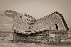 Celeiro velho de Montana imagens de stock