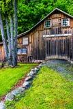 Celeiro velho na vila de Millbrook, na água Gap de Delaware nacional com referência a fotos de stock